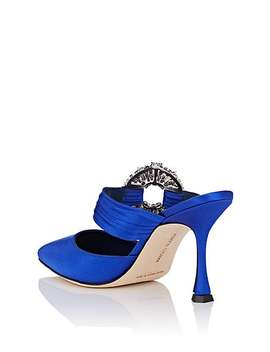 Maidugur Satin Mules by Manolo Blahnik