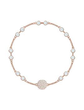 Swarovski Remix Collection Carrier, White, Rose Gold Plating by Swarovski Crystal