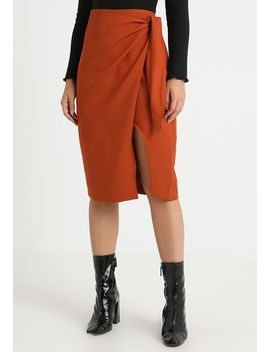 Sarra Knot Side Pencil Skirt   Wickelrock by 4th & Reckless Petite
