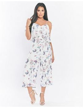 Sistaglam Love Jessica   Multi 'calita' Floral Chiffon Jumpsuit by Sistaglam Love Jessica