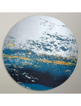 John Lewis Decorative Round Art Mirror, Dia.80cm, Blue by John Lewis