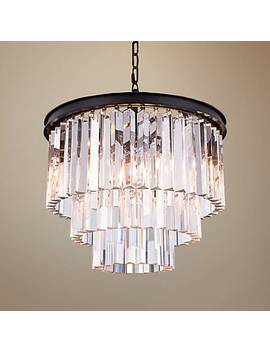 "Urban Classic Mocha Brown 20""W Crystal Pendant Chandelier by Lamps Plus"