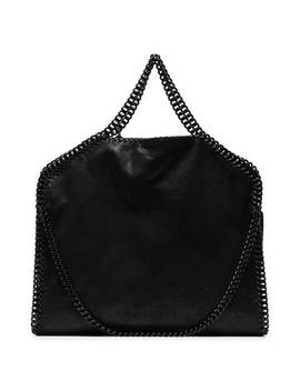 Black Falabella Faux Leather Tote by Stella Mc Cartney