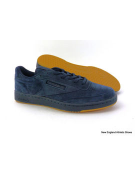 Reebok Men's Club C 85 Casual Shoes Sneakers Collegiate Night Navy Gum Size 12 by Reebok