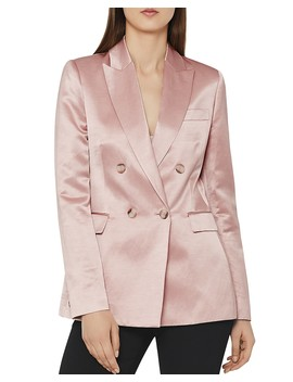 Solene Metallic Blazer by Reiss