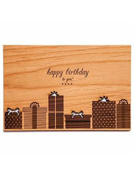 Birthday Gifts Laser Cut Wood Birthday Card (Greeting Card / Birthday Gift) by Amazon