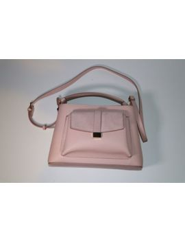 Zara Mini City Bag With Split Suede Flap Pink by Zara
