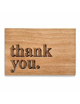 Thank You Laser Cut Wood Greeting Card (Birthday Card / Everyday / Unique Gift / Personalized Available) by Amazon