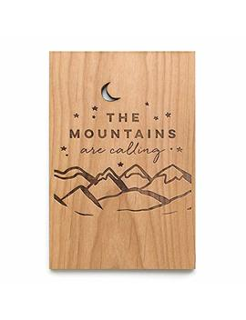 The Mountains Are Calling Laser Cut Wood Greeting Card (Gratitude Card/Everyday/Unique Gift/Personalized Available) by Amazon