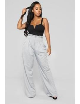 You're Like A Party Pants   Heather Grey by Fashion Nova