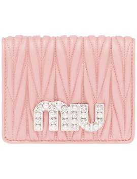 Matelassé Embellished Billfold Wallet by Miu Miu