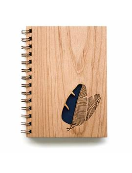 Banana Leaves Laser Cut Wood Journal (Notebook / Birthday Gift / Gratitude Journal / Handmade) by Amazon