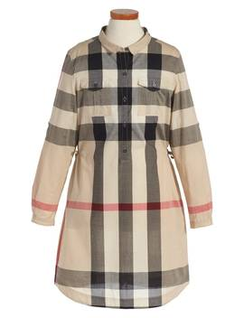 'darielle' Check Print Dress by Burberry