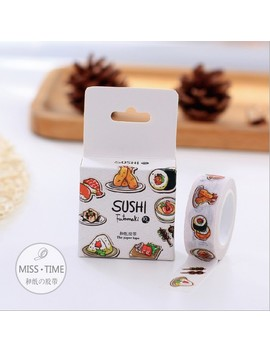 Creative Sushi Food Washi Tape Adhesive Tape Diy Scrapbooking Sticker Label Masking Tape by Ali Express