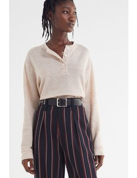 Uo Carter Henley Top by Urban Outfitters