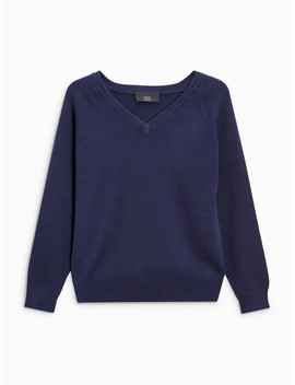 Next Boys Navy Blue Solid Pullover by Next