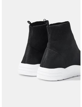 Black Temple Sock Style Trainers by Miss Selfridge