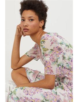 Vestido Chiffon Decote Em V by H&M