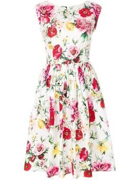 Dolce & Gabbanasleeveless Floral Dresshome Women Dolce & Gabbana Clothing Day Dresses by Dolce & Gabbana
