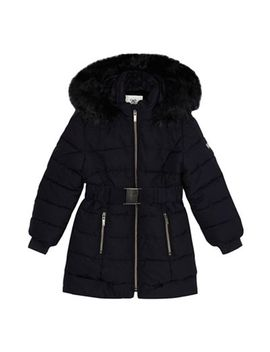 J By Jasper Conran   'girls' Navy Padded Shower Resistant Coat by J By Jasper Conran