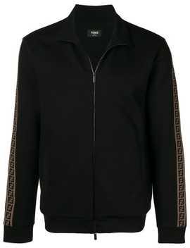 Fendizipped Logo Stripe Track Jackethome Men Fendi Clothing Sport Jackets & Wind Breakers by Fendi