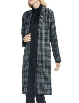 Long Plaid Jacket by Vince Camuto