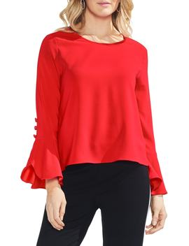 Flutter Cuff Blouse by Vince Camuto