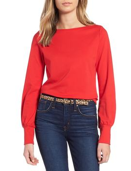 Blouson Sleeve Top by 1901