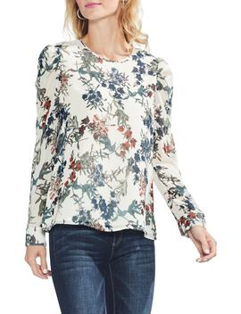 Garden Heirloom Puff Shoulder Blouse by Vince Camuto