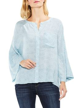 Two By Vince Camuto Bell Sleeve Geo Dialogue Top by Vince Camuto