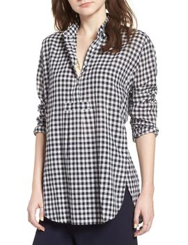 Gingham Side Button Popover Shirt by Madewell