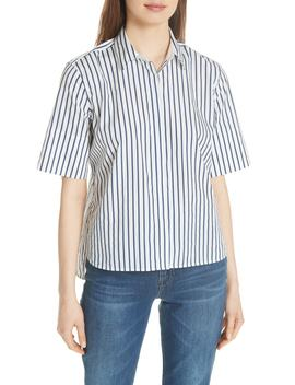 Paulette Short Sleeve Cotton Top by Equipment