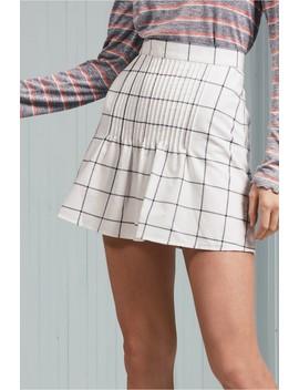 Atticus Check Skirt by Bnkr