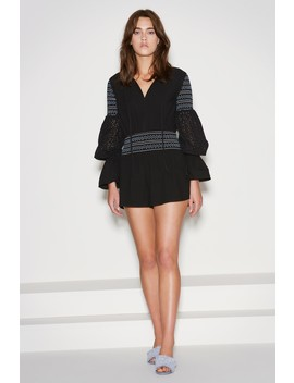 Riverine Long Sleeve Playsuit by Bnkr
