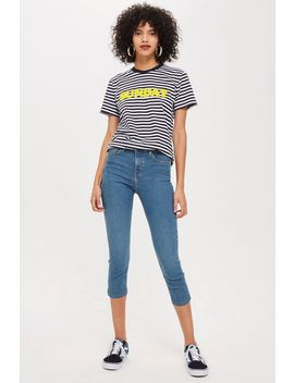 Blue Green Cropped Joni Jeans by Topshop