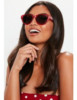 Quay Australia Red Rizzo Sunglasses by Missguided
