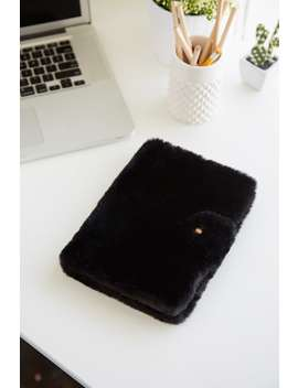 Faux Fur Notebook by Forever 21