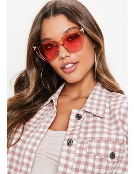 Pink Clear Large Frame Sunglasses by Missguided