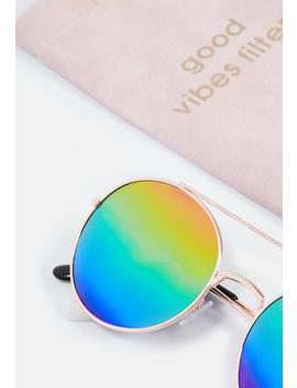 Rainbow Multi Gold Sunglasses by Missguided
