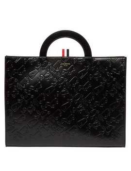 Debossed Leather Document Holder by Thom Browne