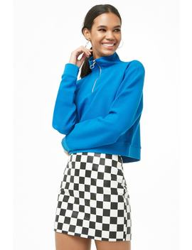 Checkered A Line Mini Skirt by Forever 21