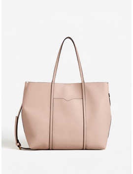 Mango Pink Solid Shoulder Bag With Detachable Sling Strap by Mango