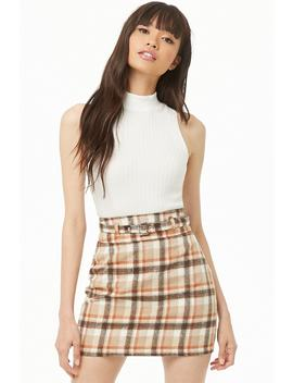 Plaid Mini Skirt by Forever 21
