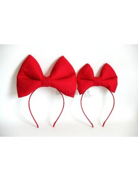 Snow White Bow // Kiki's Delivery Service Bow // Big Red Bow // By Born Tu Tu Rock by Born Tu Tu Rock