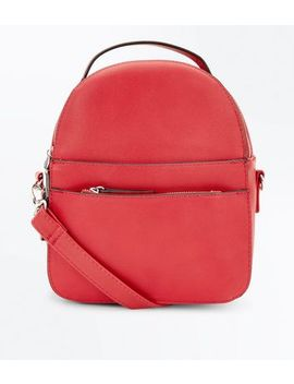 Roter Micro Rucksack Mit Multifunktionalen Riemen by New Look