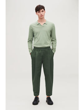 Wide Leg Chinos With Pleats by Cos