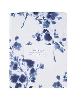 Single White Floral Duvet Set by Bianca