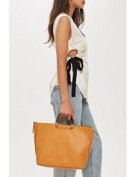 Sallie Tortoiseshell Handle Shoulder Bag by Topshop