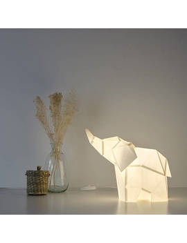 Baby Elephant   Diy Paperlamp ( Pre Cut Papercraft Kit, Diy Paper Lamp ) by Ow Lpaperlamps