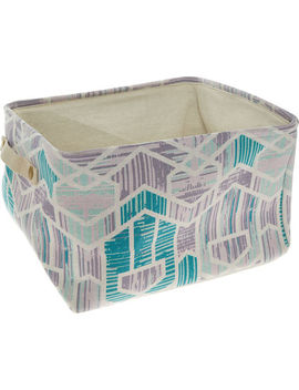 Medium Purple Canvas Storage Basket 35x40cm by Kenton Grey